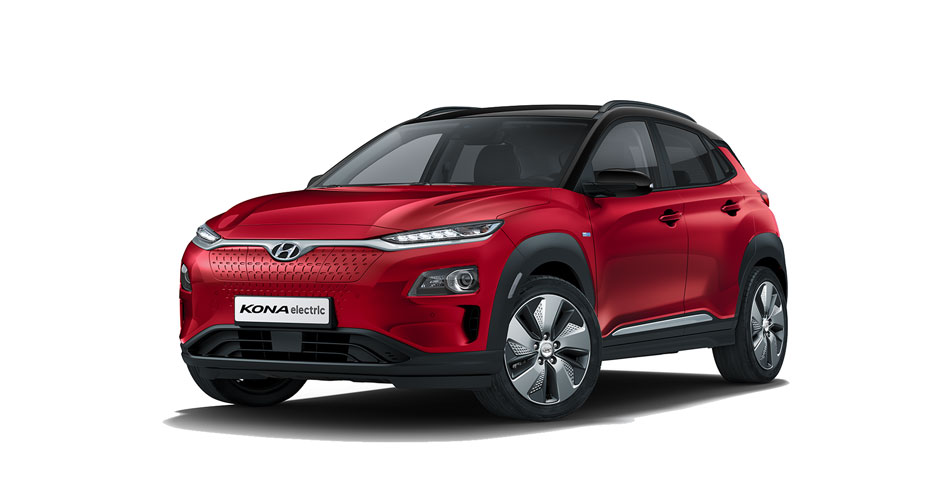 Kona Electric - Pulse Red with Black Roof